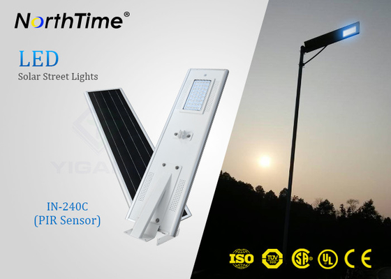 چین PIR Sensor Smart Solar Street Light All In One , Solar Powered LED Street Light With Camera تامین کننده