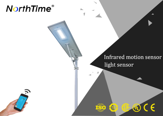چین Pathway Intelligent LED Street Lamp With Mono Crystalline Solar Panels تامین کننده