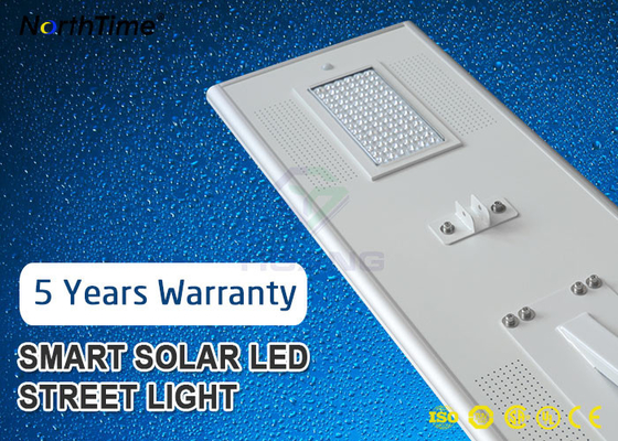 چین 80Watt IP65 Smart Phone APP Control LED Smart Solar Street Light 5 Year Warranty کارخانه